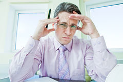 Businessman in stress Stock Photo