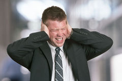 Businessman stress Stock Images