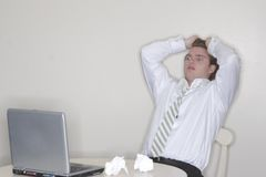 Businessman stress Royalty Free Stock Photos