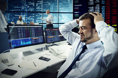 Businessman Stress Failed Unsuccessful Stock Concept Stock Photography