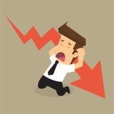 Businessman stress, fall. Vectoir&illustration Stock Photography