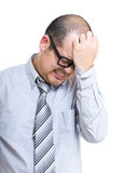 Businessman stress Royalty Free Stock Images