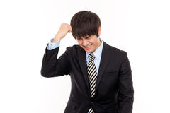 Businessman with stress pain Stock Photography