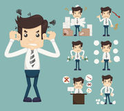 Businessman Stress Pressure Workplace Stick. Eps10 vector format Royalty Free Stock Image
