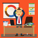 Businessman stress at work Stock Images