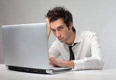 Businessman stressed Stock Images