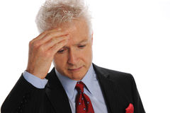 Businessman stressed Royalty Free Stock Photos