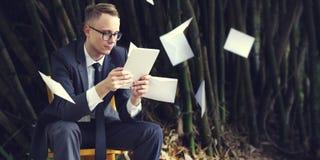 Businessman Stressful Sadness Failure Concept Stock Photography