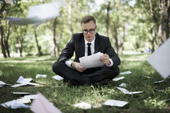 Businessman Stressful Sadness Failure Concept Stock Images