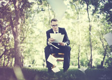 Businessman Stressful Sadness Failure Concept Royalty Free Stock Image
