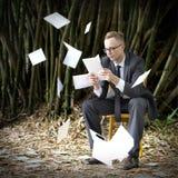 Businessman Stressful Sadness Failure Concept Royalty Free Stock Photo