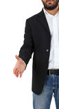 Businessman stretches out his hand for an agreement Royalty Free Stock Images