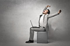 Businessman Stretching Royalty Free Stock Images