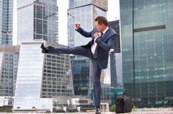 Businessman strikes Stock Photos