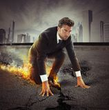 Businessman with strong determination Royalty Free Stock Photos