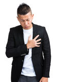Businessman strong heart attack Stock Images