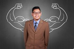 Businessman with Strong Inner Power stock photo
