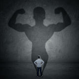 Businessman and strong shadow 3 Royalty Free Stock Images