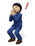 A businessman strongly begging. 3D illustration royalty free illustration