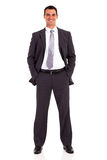 Businessman studio portrait Stock Photos