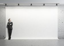 Businessman in studio Royalty Free Stock Images