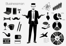 Businessman style elements vector illustration