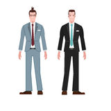 Businessman style suit  wear vector Stock Photography