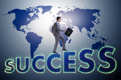 The businessman in success business concept. Businessman in success business concept Royalty Free Stock Images