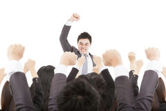 Businessman with success business team Stock Images