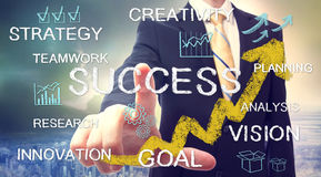 Businessman with success concept Stock Photography