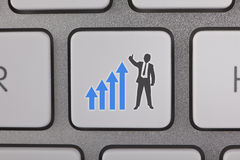 Businessman Success Graph Moving Up Stock Photography