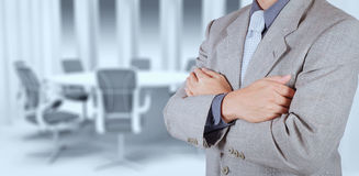 Businessman success with his board room Stock Photos