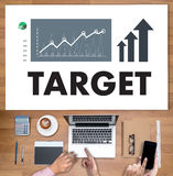 Businessman Success Increase GROWTH TARGET EARNINGS QUALITY Imp Royalty Free Stock Image