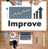 Businessman Success Increase Improve Your Skills and Make thing Royalty Free Stock Photo
