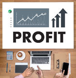 Businessman Success Increase PROFIT GROWTH TARGET EARNINGS QUAL Royalty Free Stock Images