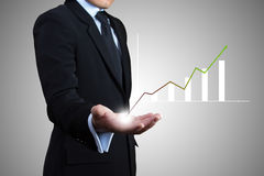 Businessman success. Royalty Free Stock Photography