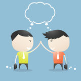 Businessman Success together cartoon. Stock Photo
