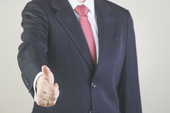 Businessman. Successful business man with finger up Stock Images