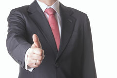 Businessman. Successful business man with finger up Stock Photos