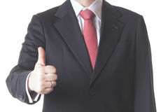 Businessman. Successful business man with finger up Royalty Free Stock Photos