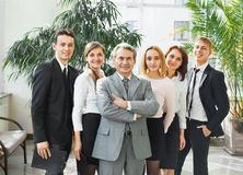 Businessman and successful business team Royalty Free Stock Image