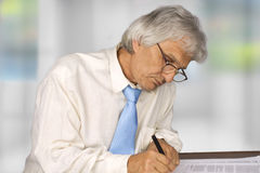 Businessman. Successful senior businessman in the office Stock Photography