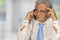 Businessman. Successful senior businessman in the office Royalty Free Stock Images
