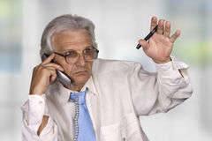 Businessman. Successful senior businessman in the office Royalty Free Stock Photos