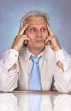 Businessman. Successful senior businessman in the office Stock Images