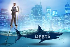 The businessman successfully dealing with loans and debts vector illustration