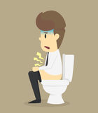 Businessman suffer from diarrhea Royalty Free Stock Images