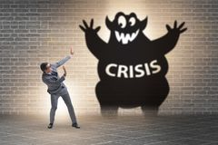 Businessman suffering from economic crisis