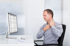 Businessman Suffering From Pain Stock Photos
