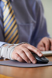 Businessman Suffering From Repetitive Strain Injury (RSI) Stock Image